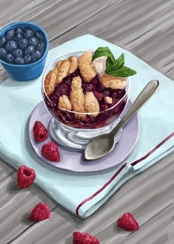 11 berry cobbler