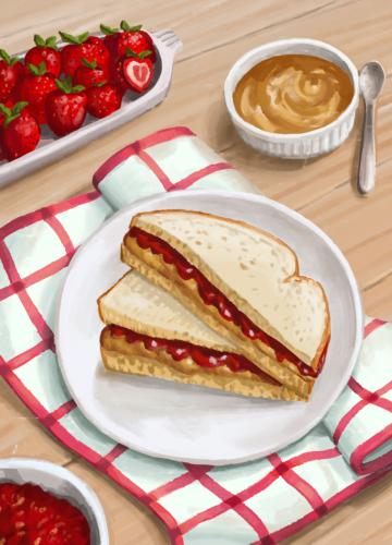44 peanut butter jelly sandwich