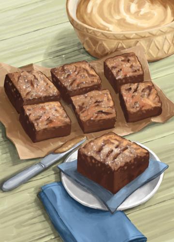 45 almond butter brownies
