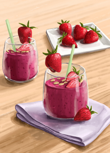 63 starwberry soy yoghurt smoothie