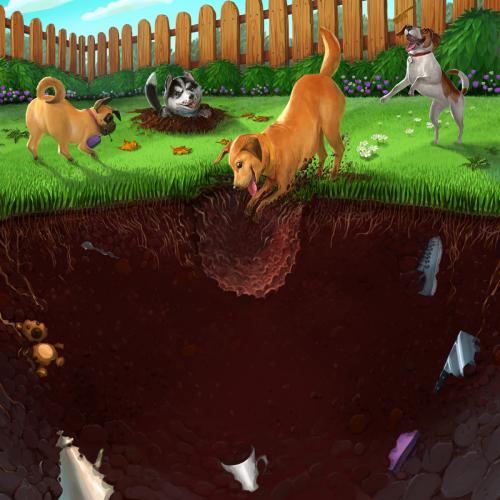digging doggies box art lightened